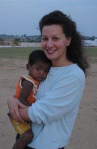 Caroline with Deepak, March 2009