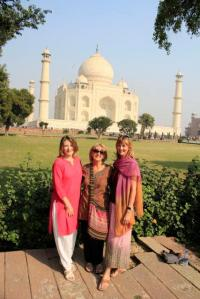 Mariellen, my mother and myself at the Taj Mahal